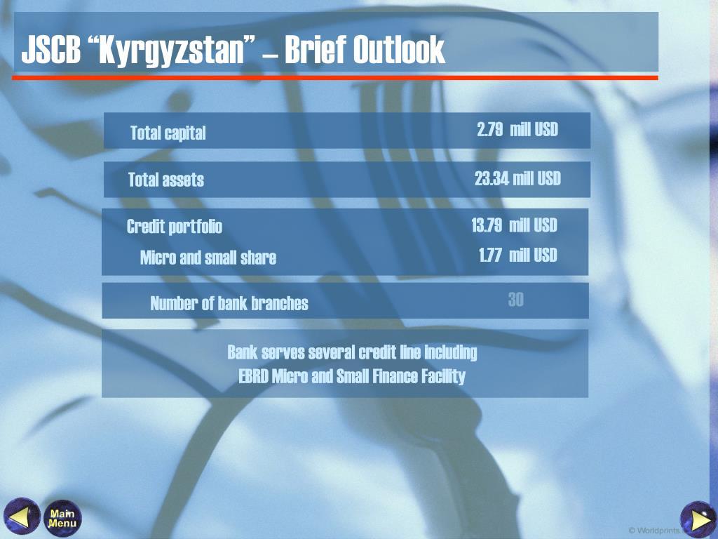 """JSCB """"Kyrgyzstan"""" – Brief Outlook"""