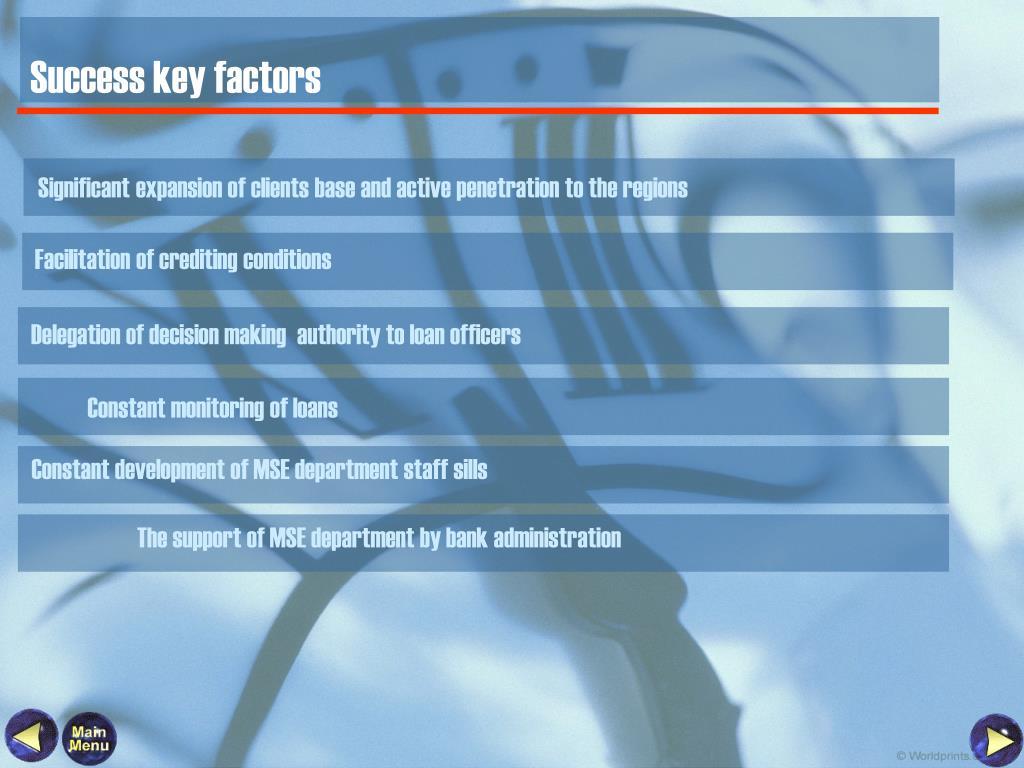 Success key factors
