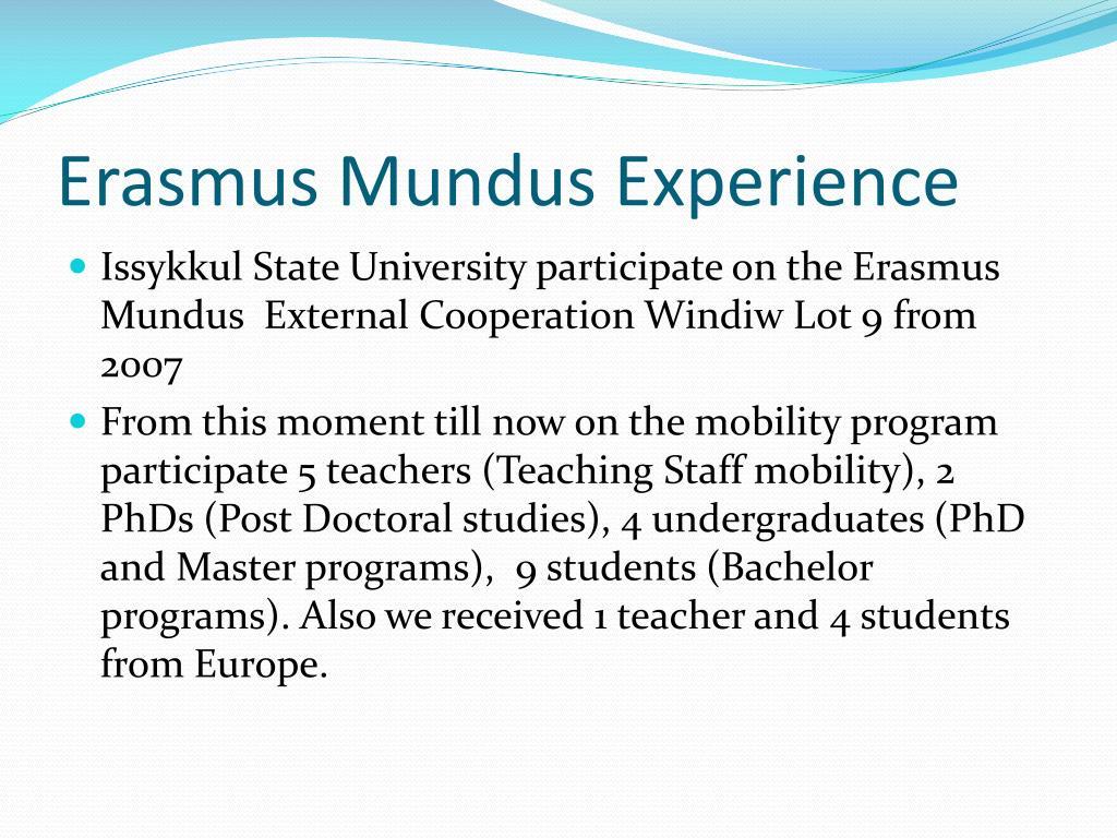 Erasmus Mundus Experience