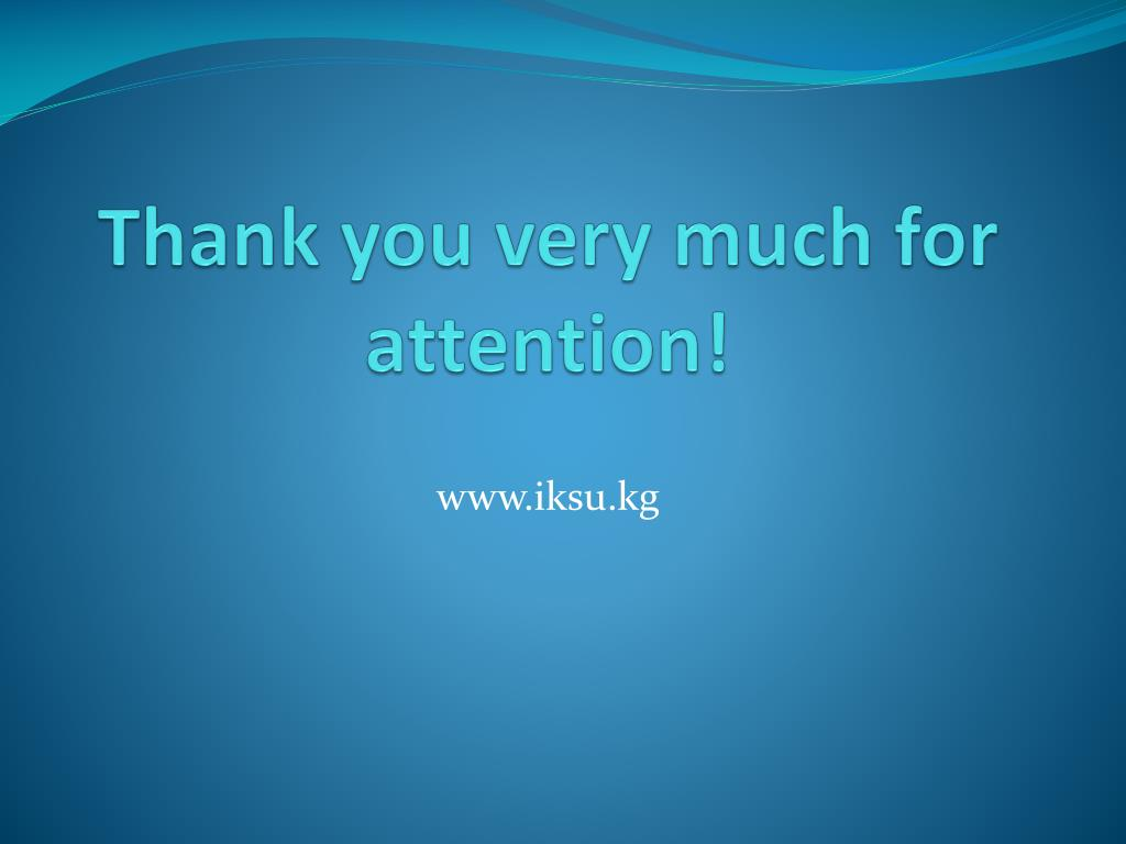 Thank you very much for attention!
