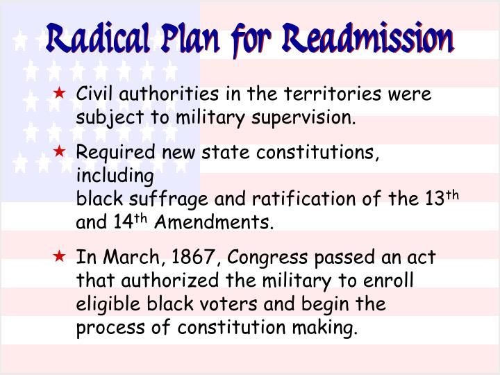 Radical Plan for Readmission