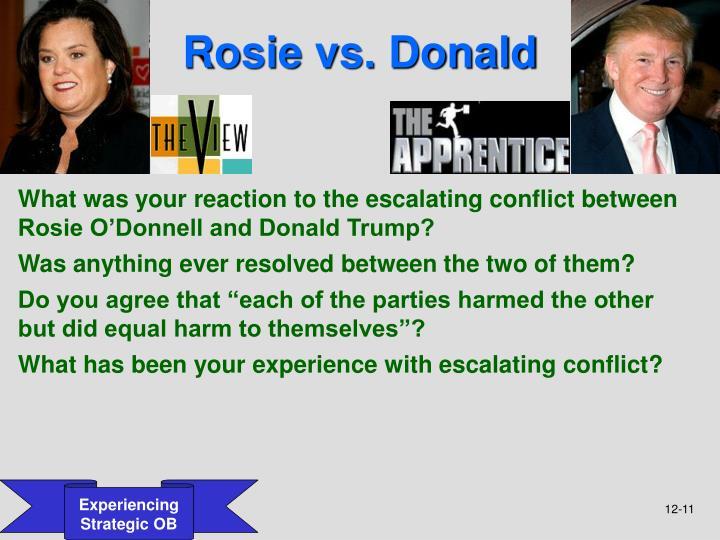Rosie vs. Donald