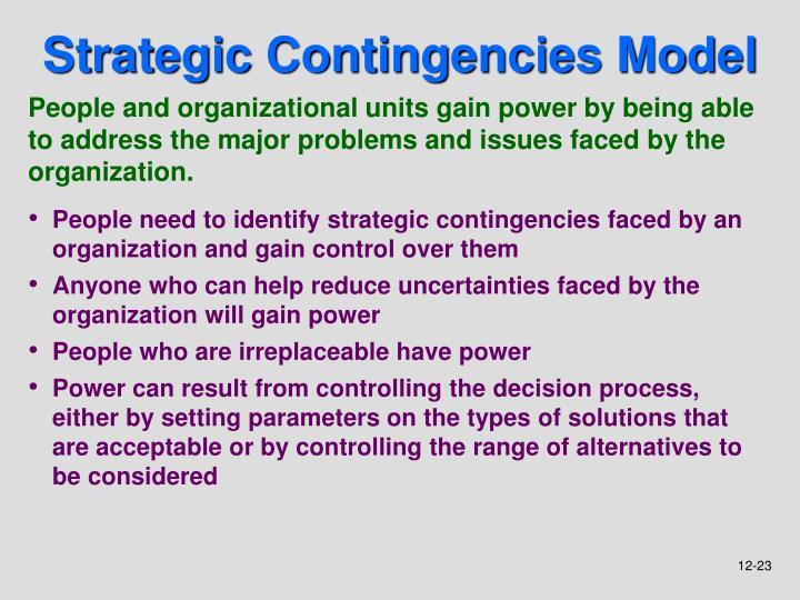 Strategic Contingencies Model