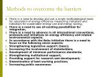 methods to overcome the barriers