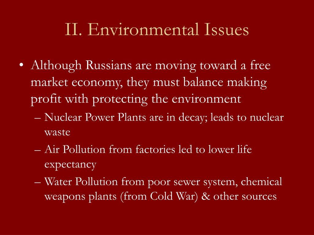 II. Environmental Issues