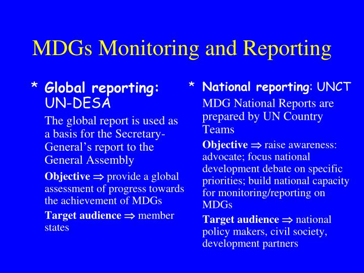 Global reporting: