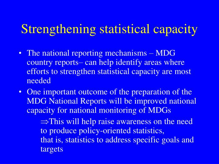 Strengthening statistical capacity
