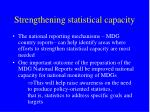 strengthening statistical capacity