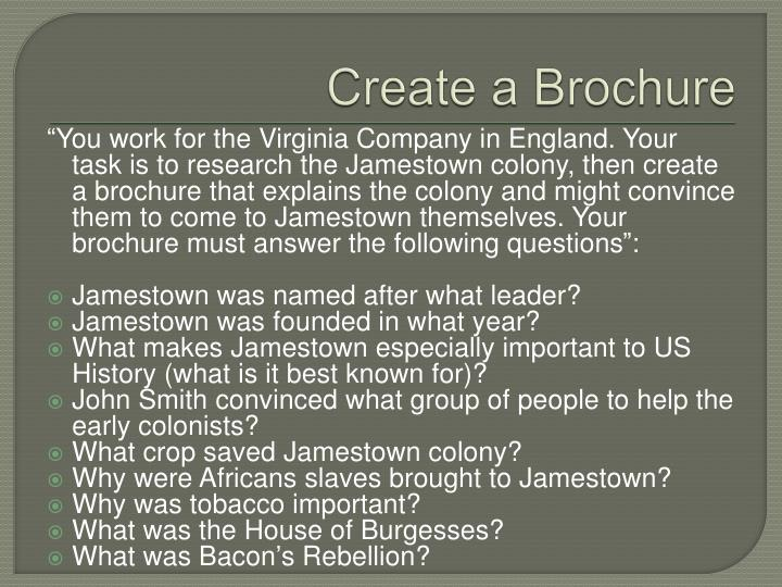 Create a Brochure