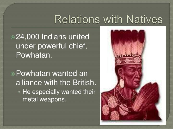 Relations with Natives