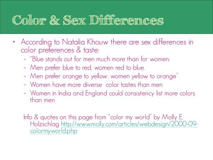 Color & Sex Differences
