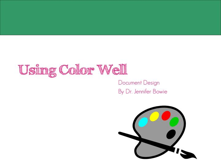 Using Color Well