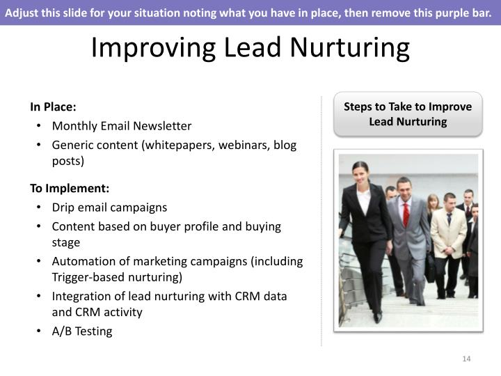 Adjust this slide for your situation noting what you have in place, then remove this purple bar.