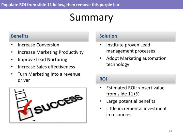 Populate ROI from slide 11 below, then remove this