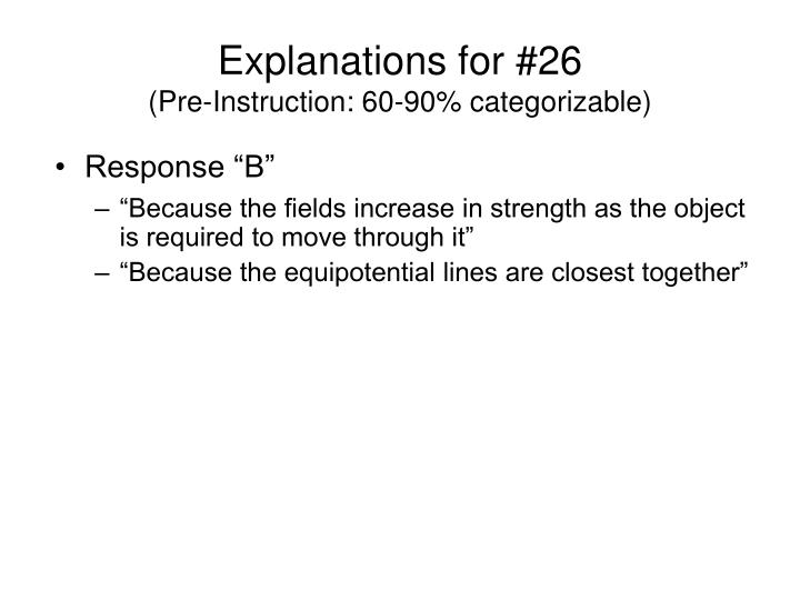 Explanations for #26
