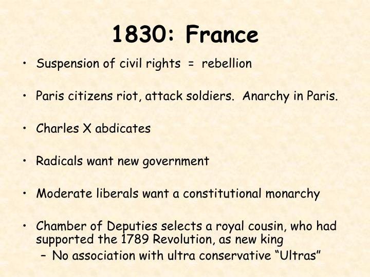1830: France