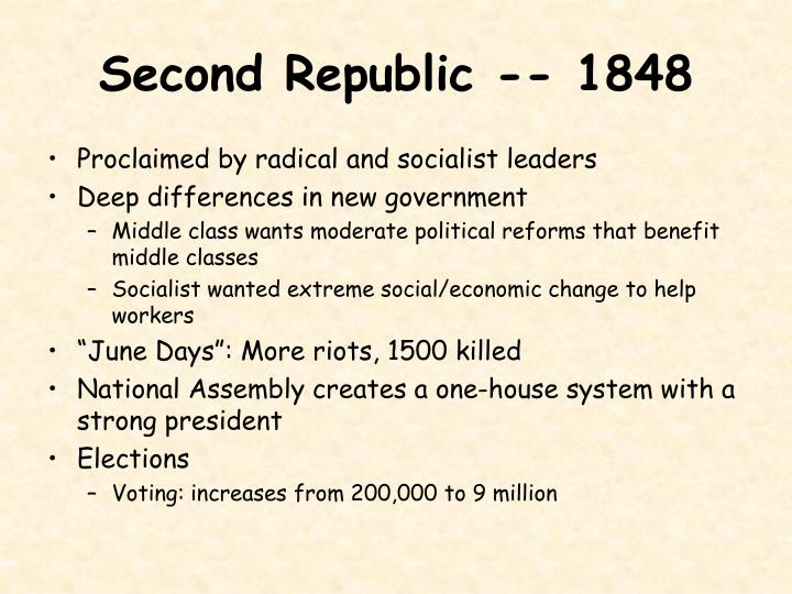 Second Republic -- 1848