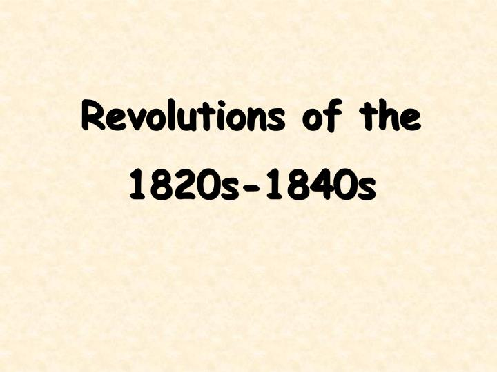 Revolutions of the