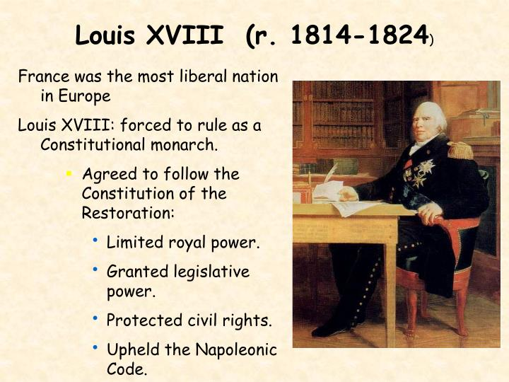 Louis XVIII  (r. 1814-1824