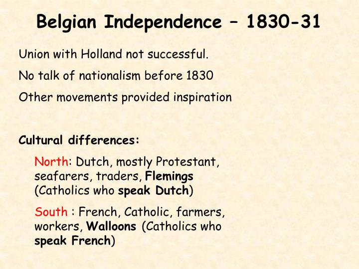 Belgian Independence – 1830-31