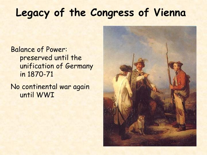 Legacy of the Congress of Vienna