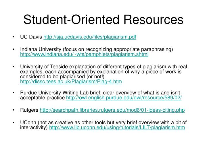 Student-Oriented Resources