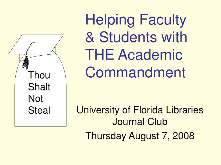 University of florida libraries journal club thursday august 7 2008