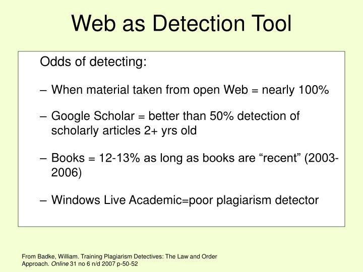 Web as Detection Tool