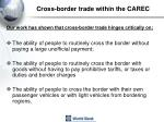 cross border trade within the carec4