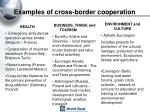 examples of cross border cooperation