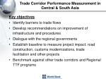 trade corridor performance measurement in central south asia
