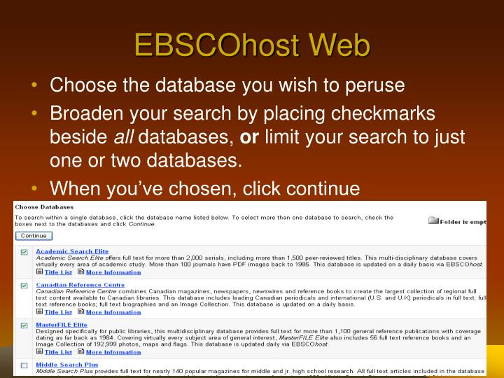 EBSCOhost Web