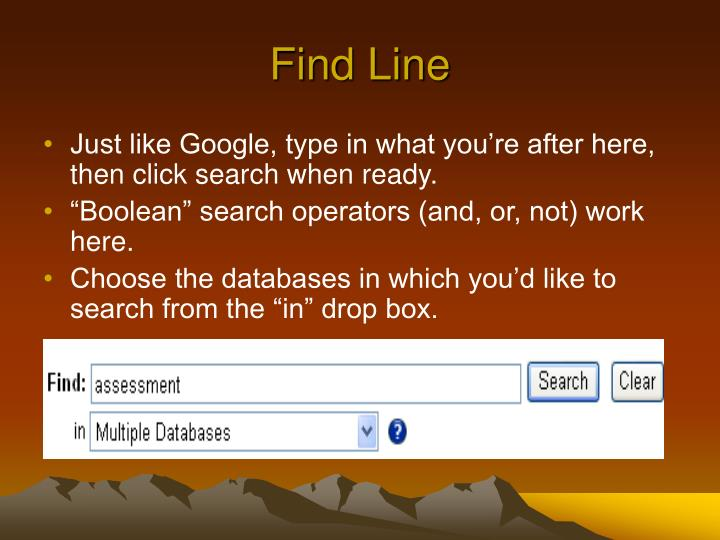 Find Line