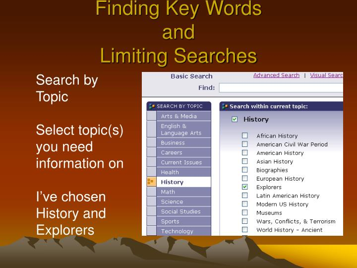 Finding Key Words