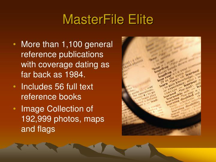 MasterFile Elite
