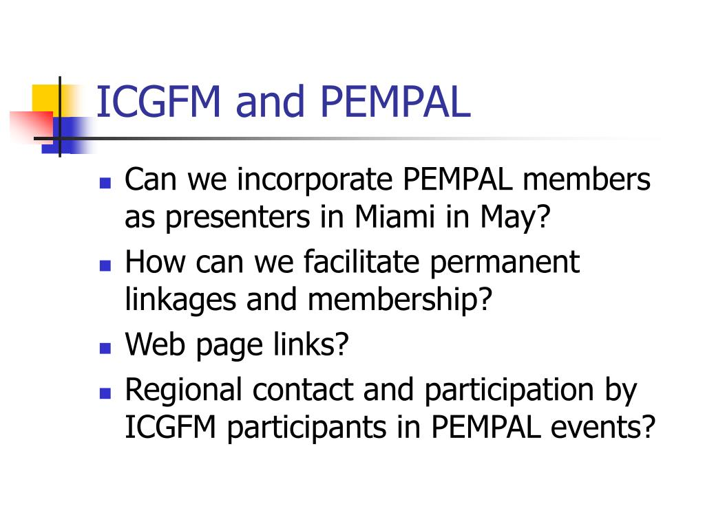 ICGFM and PEMPAL