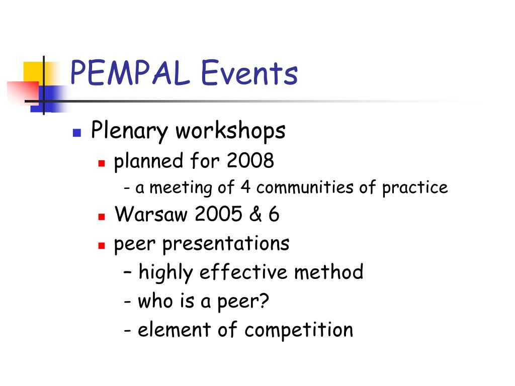 PEMPAL Events