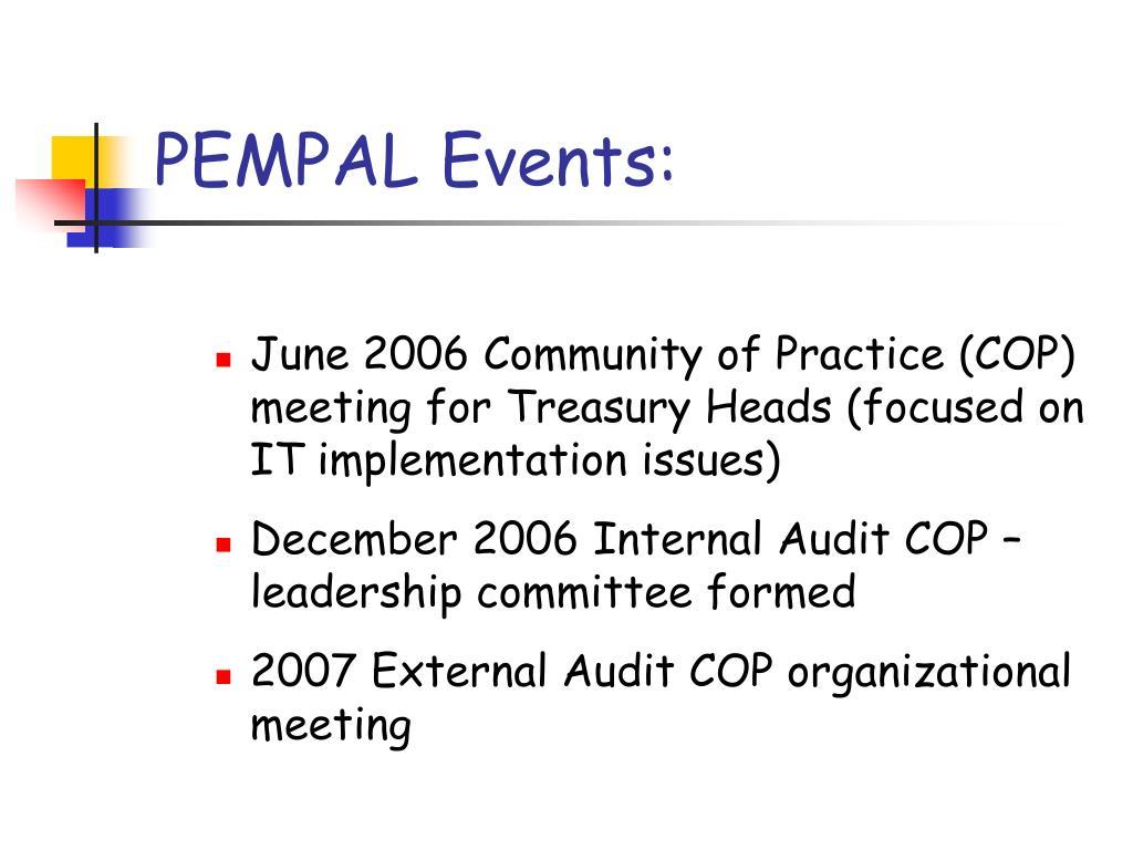 PEMPAL Events: