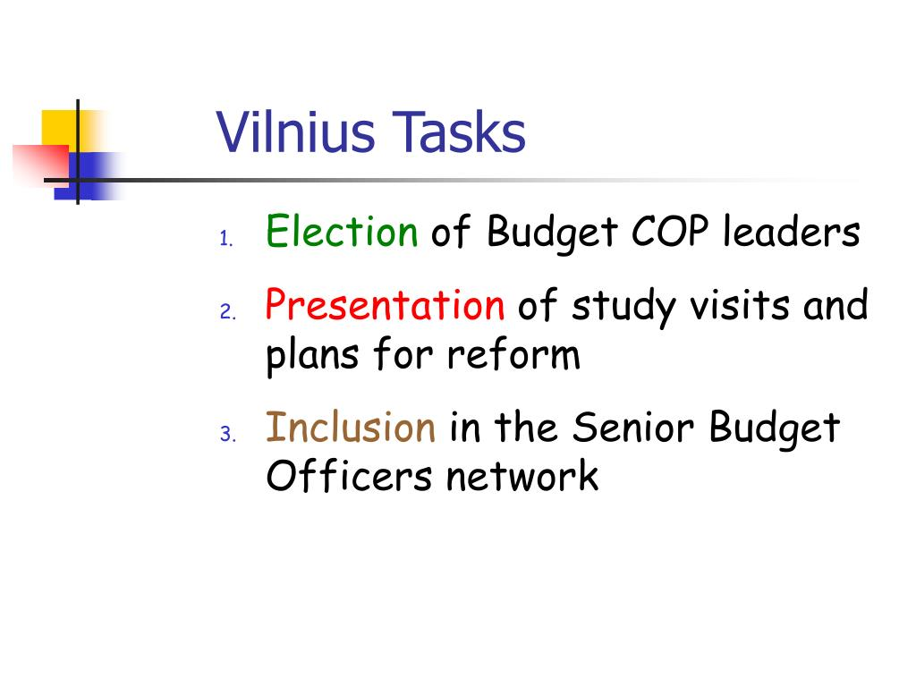 Vilnius Tasks