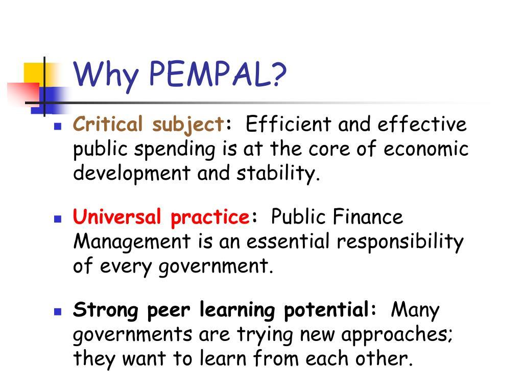 Why PEMPAL?