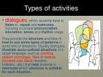 types of activities5