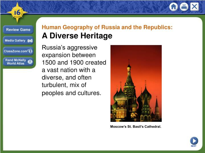 Human Geography of Russia and the Republics: