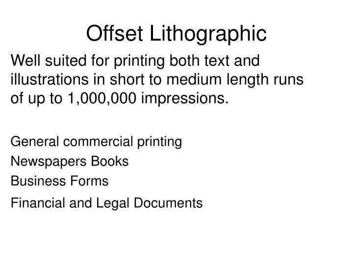Offset Lithographic