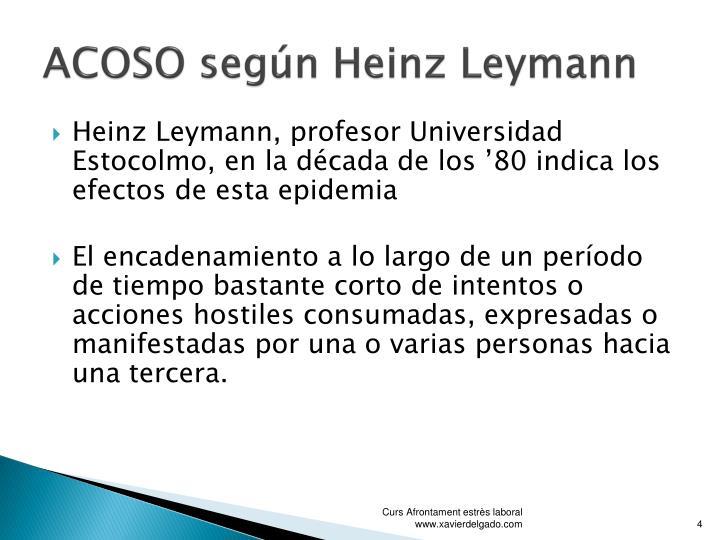 ACOSO según Heinz Leymann