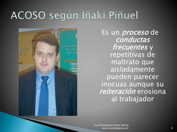 ACOSO según Iñaki Piñuel