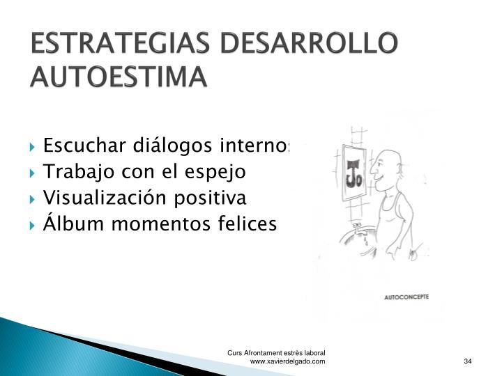 ESTRATEGIAS DESARROLLO AUTOESTIMA