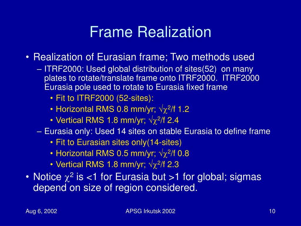 Frame Realization