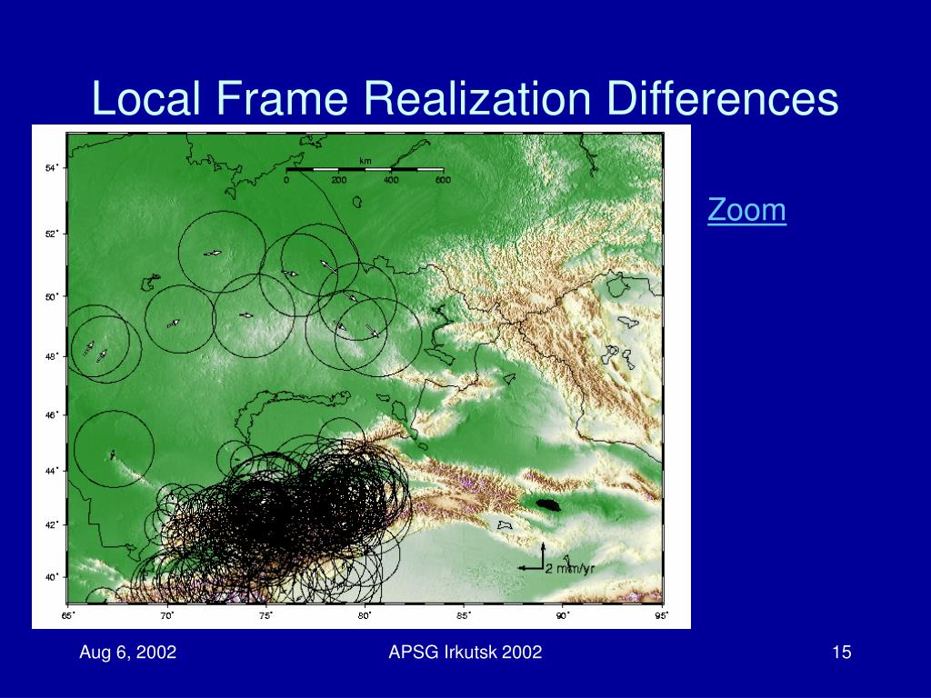 Local Frame Realization Differences