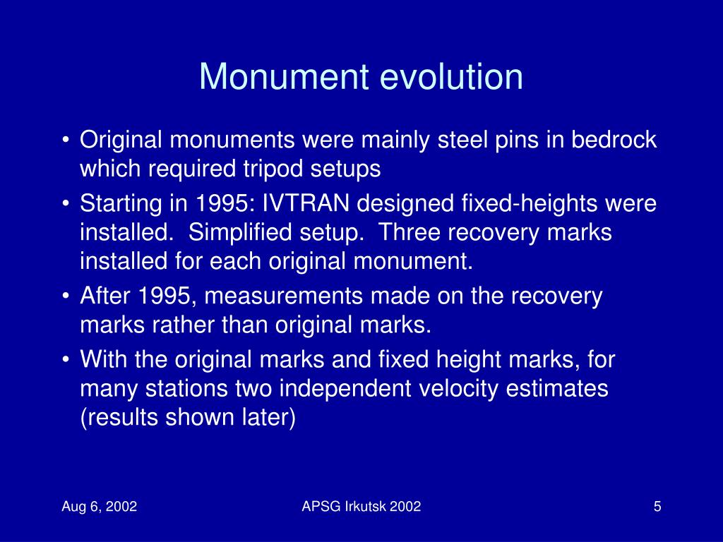 Monument evolution