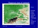 regional view of network